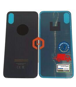 BACK COVER VETRO POSTERIORE SCOCCA PER APPLE IPHONE X CON FORO LARGO AAA+++