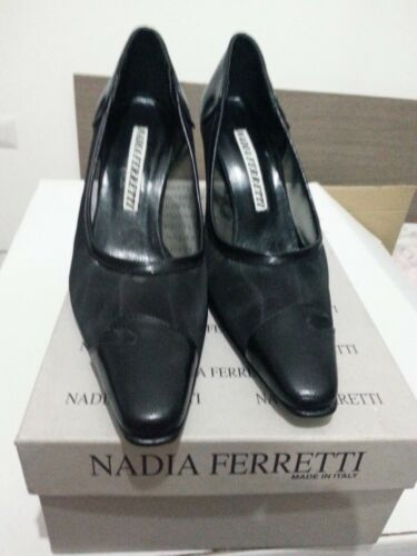 Ferretti Eleganti 35 Decoltè 976 Nadia N 7 Donna Nere Scarpe Tacco Lotto w4qOPzx0