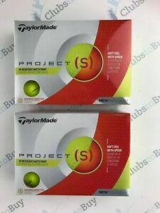 24-x-TaylorMade-Project-S-Yellow-Golf-Balls-BRAND-NEW-2-Dozen