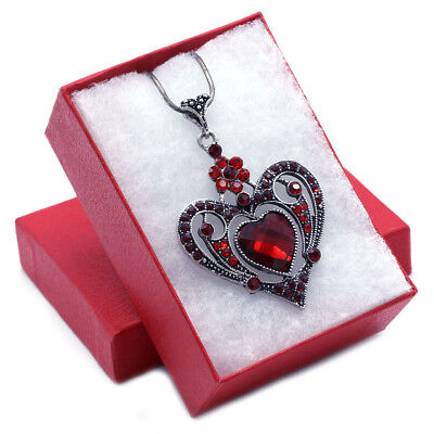 42e59d221 Details about Mom Mothers day gifts Valentine's Day Red Heart Charm Pendant  Necklace Jewelry
