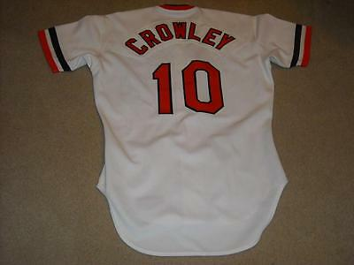 Terry Crowley Game Worn Jersey 1983 Baltimore Orioles