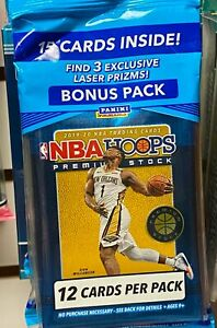 ​2019-20 Panini Hoops NBA Basketball Premium Stock Bonus Pack - Ja, Zion, Herro