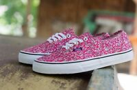 Vans Authentic Liberty London Leaves / Pink Trainers - Uk 9.5 Or 10