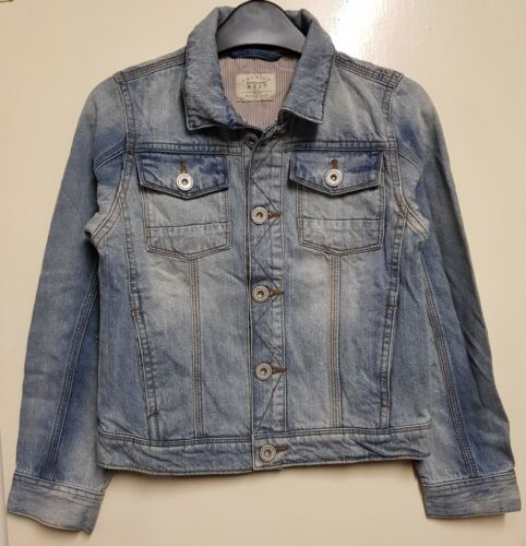 Girls` New NEXT Denim Jacket Ages 3 to 16 in Light Blue