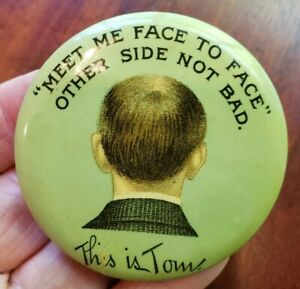 Vintage Meet Face to Face This Is Tom Pocket Advertising Mirror