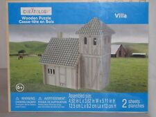"""Creatology 3D Wooden Puzzle """"Villa"""" In The Countryside"""