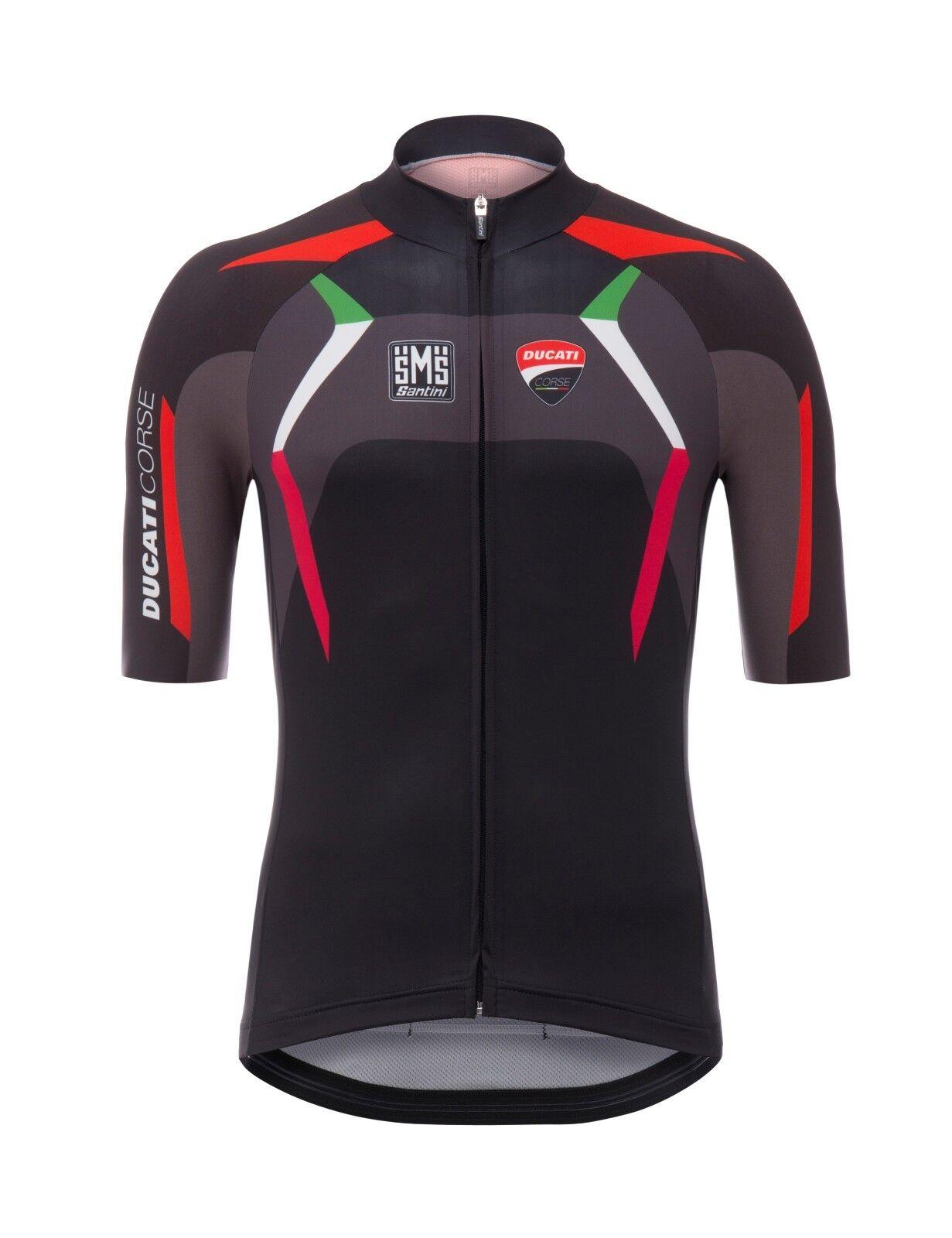 2018 Para hombres Mangas Cortas  De Ducati Ciclismo Camiseta por Santini  tienda de venta en línea