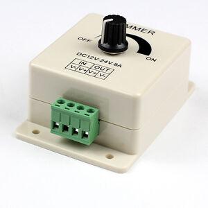 pwm switch dimming brightness controller for led strip light 12 v to 24v 8 a ebay. Black Bedroom Furniture Sets. Home Design Ideas