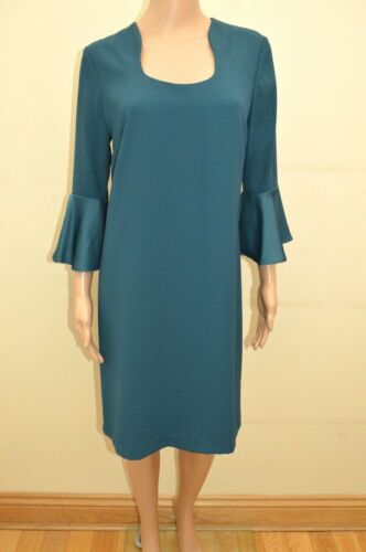 s maniche 10 Sz Teal svasate 18 a Collection Uk New M Vestito a1wqYFSw5