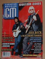 Jeff Beck,Our Lady Peace,Kardinal Offishall May 2001 Canadian Musician magazine