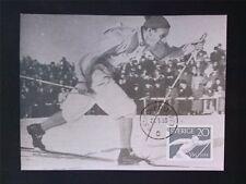 SCHWEDEN MK 1959 388 SPORT SKI LANGLAUF MAXIMUMKARTE MAXIMUM CARD MC CM c7077