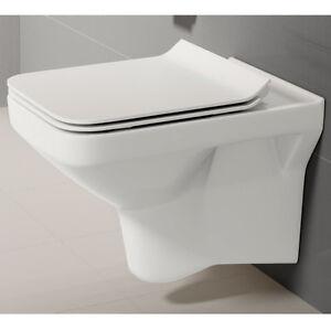 wand h nge wc keramik randlos sitz slim absenkautomatik. Black Bedroom Furniture Sets. Home Design Ideas