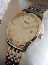 Rotary Men's GB03851/03 Two-Tone Classic Bracelet Swiss Watch RRP £129 - NEW
