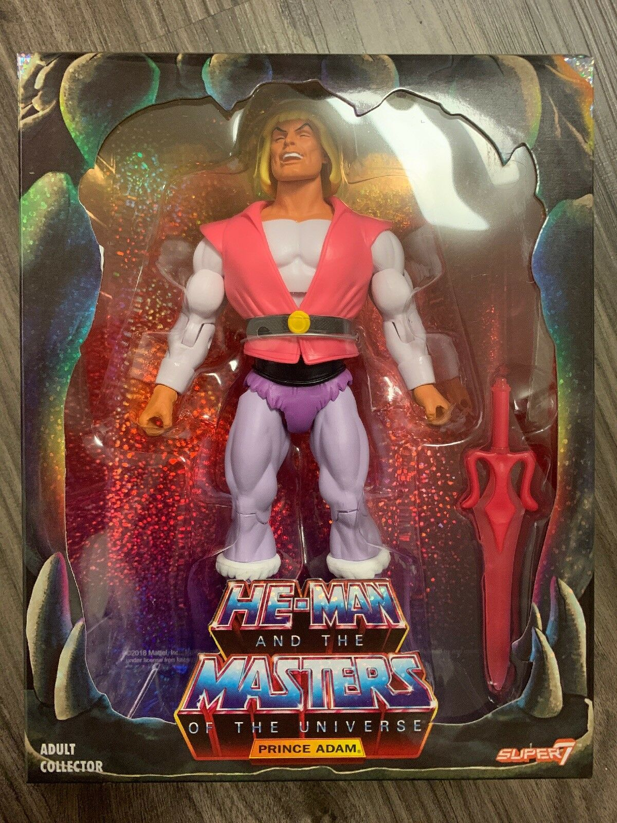 SDCC 2018 Super7 Exclusive MOTU Classics Laughing Prince Adam He-Man Filmation