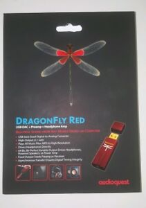 Details about AudioQuest DragonFly RED Series USB DAC Preamp Headphone Amp