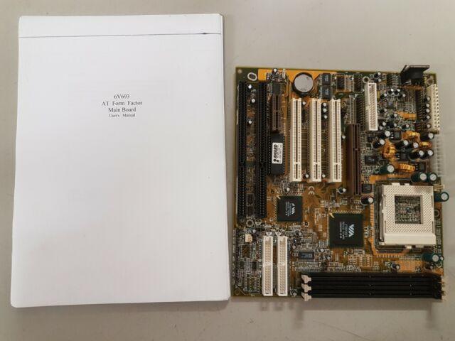Lucky Star 6V693 motherboard socket 370  3x SDRAM 2x ISA slot AT/ATX power AT KB