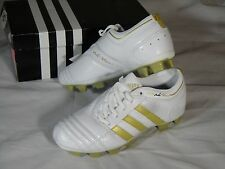 New Womens Adidas Adinova TRX FG Soccer Cleats Boots White Gold size 5 US 404274