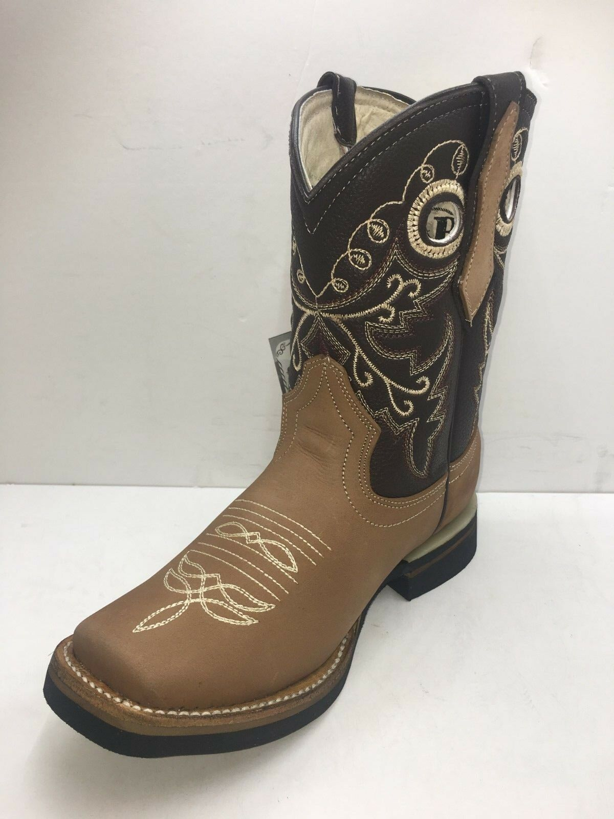 Femmes Cowgirl Rodeo Bottes Cuir Bout Carré Western MIEL couleur taille 5 To 8.5
