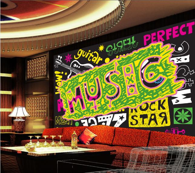 3D Musik Hintergrund 83 Tapete Wandgemälde Tapete Tapeten Bild Familie DE