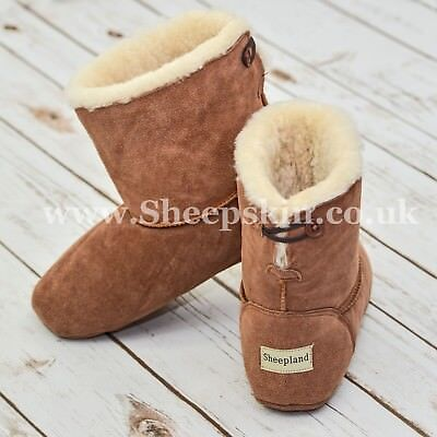 Diskret Sheepland Luxury Genuine Sheepskin Unisex Slipper Boots - Factory Seconds