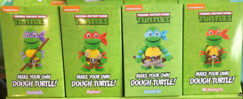 TMNT Make your own dough turtles set of 4 Rapheal Leonardo Michel Donatello  New