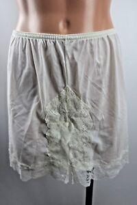 Vtg-LORRAINE-Sz-Small-Slip-Shorts-Bloomers-Nylon-Lace-Off-White-Lingerie-USA