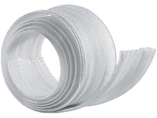avec fermeture velcro pratique Flexible blanc 1,8m Câble tuyau 2 pièces