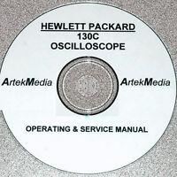 Hp Hewlett Packard 130c Oscilloscope Operating & Service Manual