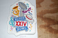 Super Bowl Xxiv (24) Orleans San Francisco Vs Denver 5 1/2 Patch Football