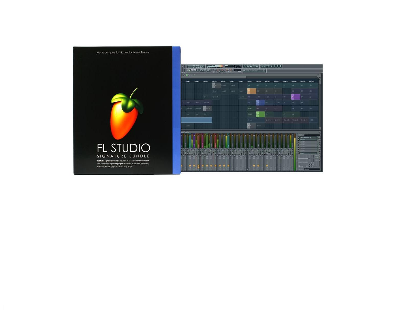 FL STUDIO 20 FRUITY LOOPS SIGNATURE MUSIC SOFTWARE RETAIL WINDOWS 7 8 10 LICENSE