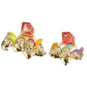 7 Seven Dwarfs Fun! Pierced Earrings  Snow White Japan Disney Store
