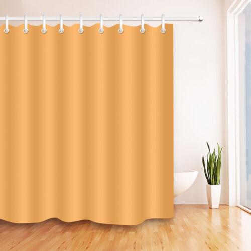 Pure Solid Color Shower Curtain Bathroom Waterproof Fabric 12 Hooks /& Bath Mat
