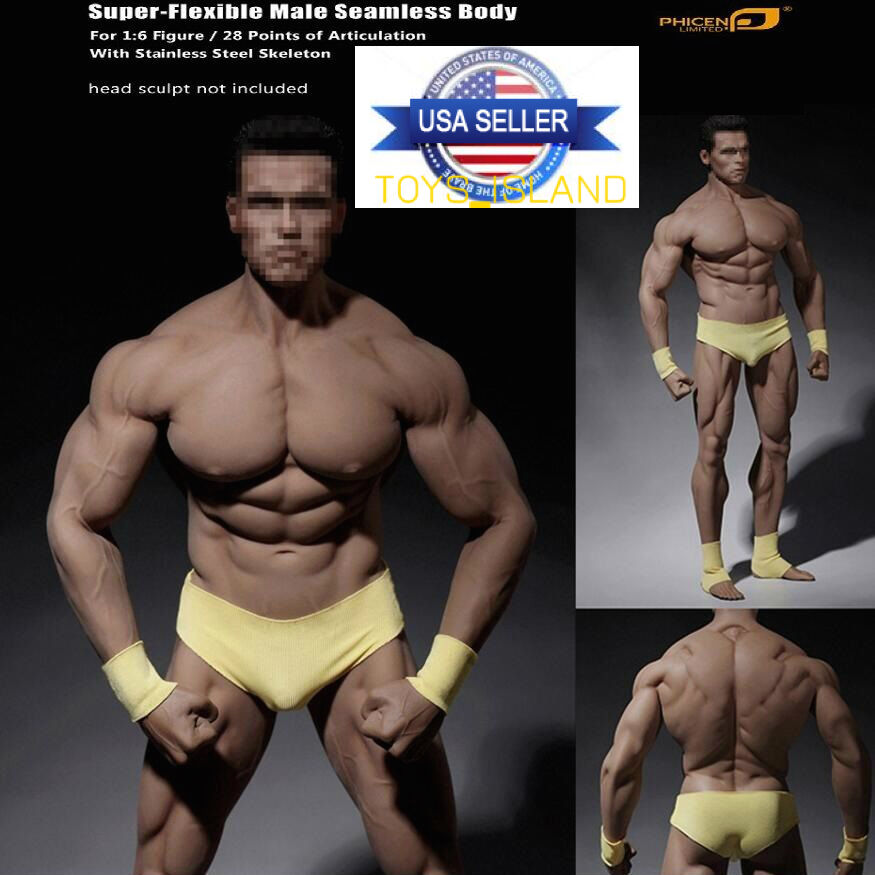 1/6 PHICEN TBLeague M34 Flexible Seamless Male Super Muscular Figure Body ❶USA❶