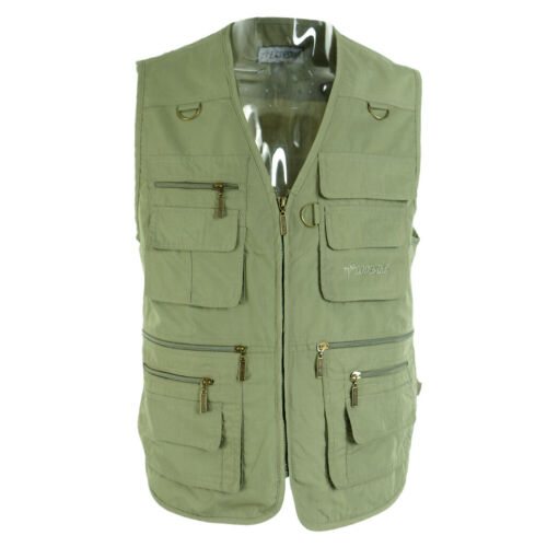 Multi Pocket Waistcoat Fishing Vest Photography Vest Hunting Outdoor Jacket