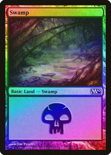 Swamp FOIL Magic 2010 240 M10 NM Basic Land MAGIC GATHERING CARD ABUGames