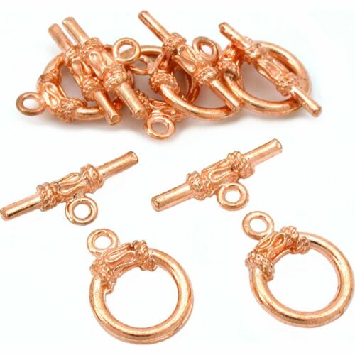 Bali Toggle Clasps Copper Plated Part 13.5mm Approx 6