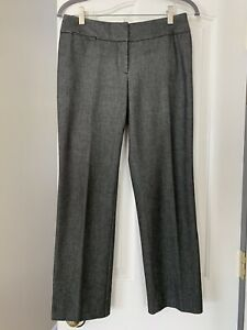 LOFT-Petite-Women-s-Dress-Pants-Size-4P-Gray-Straight-Stretchy-Business