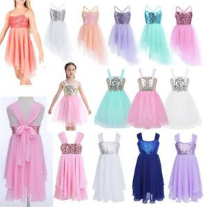 Sequins-Ballerina-Girls-Dance-Dress-Ballet-Kids-Latin-Leotard-Tutu-Skirt-Costume