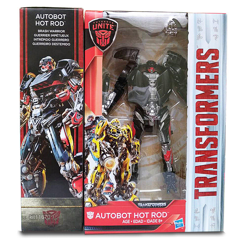 (Wi) Transformers Last Knight Deluxe Hot Rod Walmart Exclusive NEW