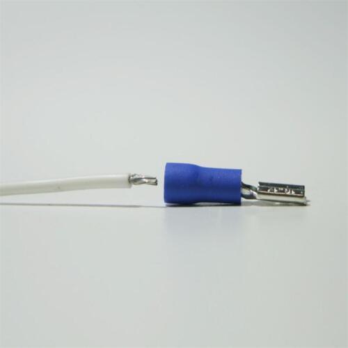 100 cable zapatos fundas de conector plano azul 4,8x0,5mm para 1,5-2,5mm² cable zapato hembra