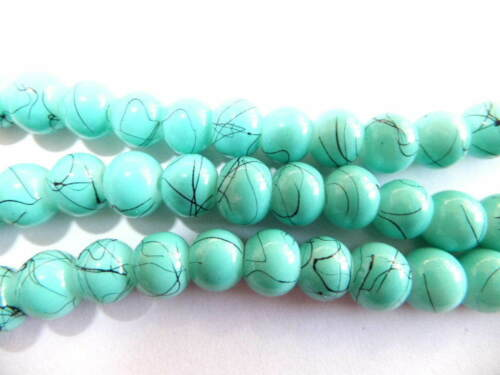 Glass Beads 1mm hole Various Colours 4mm 6mm 8mm 12mm 14mm Drawbench