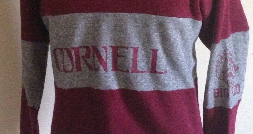 Genuine 1980s Cornell Sweater Men XL (46-48) Big ROT NCAA Collegiate Pacific  24