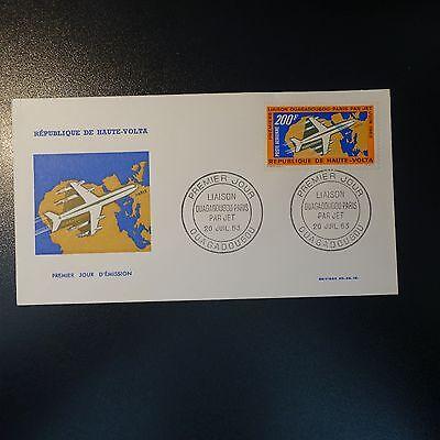 Burkina Faso Briefmarken Haute Volta Post Luft Pa N°8 Auf Brief Cover 1 Tag Fdc Hitze Und Durst Lindern.