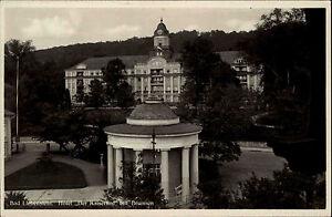 Bad-Liebenstein-Ansichtskarte-1932-Partie-am-Hotel-Der-Kaiserhof-mit-Brunnen