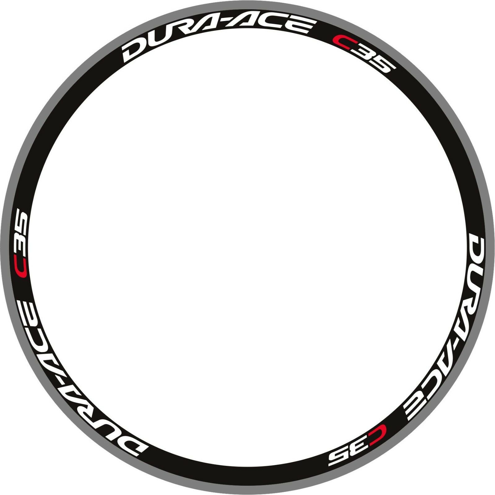 DURA ACE C35 RIM DECAL SET  FOR TWO WHEELS white & red version