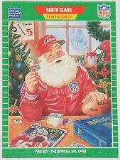 RARE 1989 PRO SET FOOTBALL SANTA CLAUS DEALER PROMO SP LUD DENNY CHRISTMAS CARD