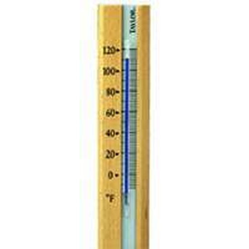 NEW TAYLOR 5141 COMFORTMETER WOOD BASE INDOOR WALL MOUNT THERMOMETER SALE