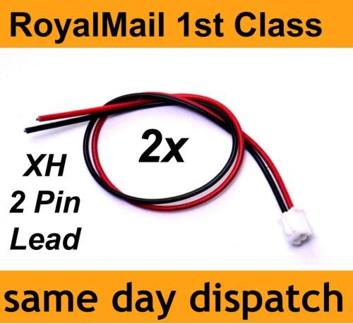 XH-Plug 2 PIN Lead 20cm 22 AWG Red Black 2.54mm Pitch Plug Male