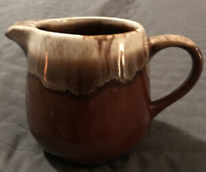 Vintage Mccoy 7020 Brown Drip Pottery Creamer/Pitcher Made in The USA
