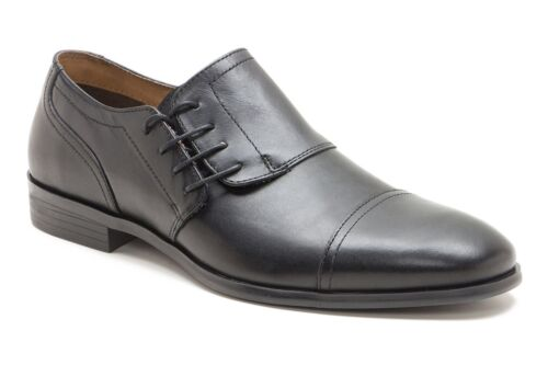 Red Tape Marbury Side Lace Formal Mens Leather Cap Office Shoes Size Black Tan
